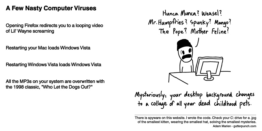 A Few Nasty Computer Viruses