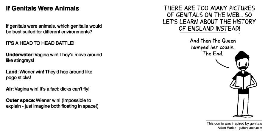 If Genitals Were Animals