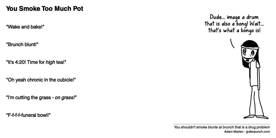 You Smoke Too Much Pot
