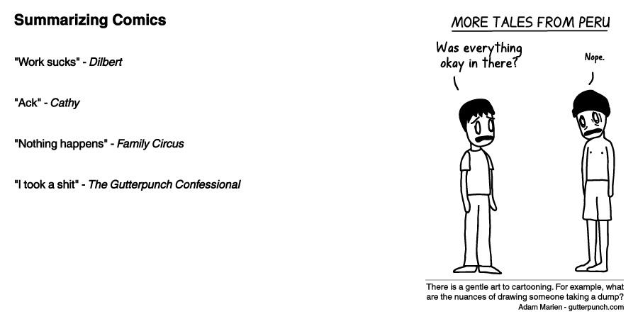 Summarizing Comics