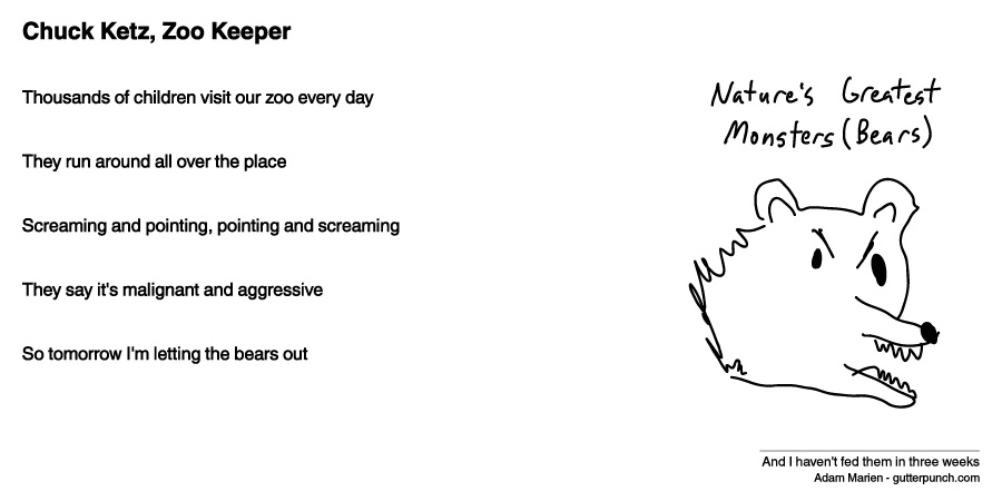 Chuck Ketz, Zoo Keeper