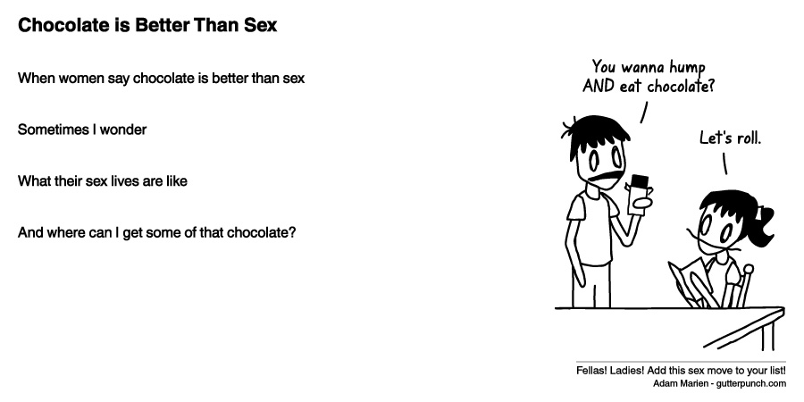 Chocolate is Better Than Sex