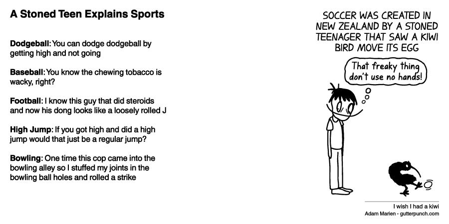 A Stoned Teen Explains Sports