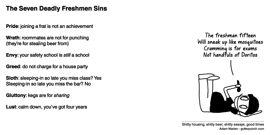 The Seven Deadly Freshmen Sins