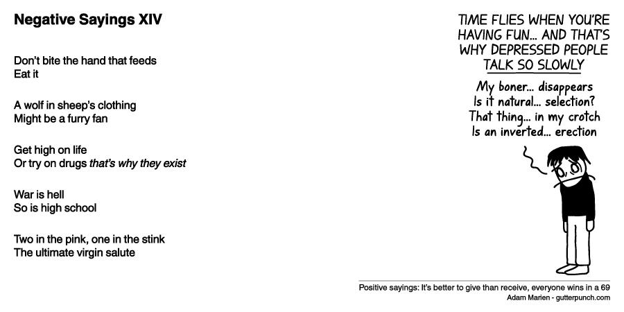 Negative Sayings XIV