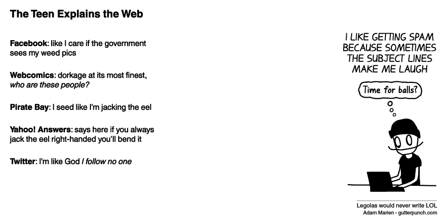 The Teen Explains the Web