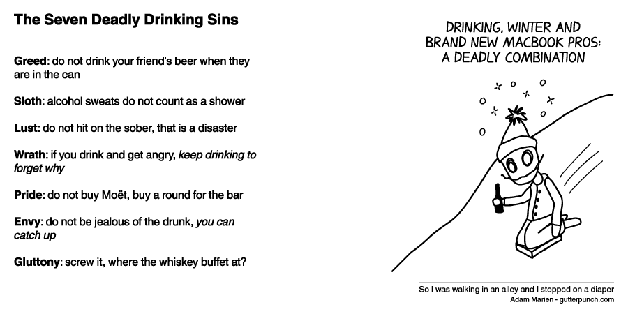 The Seven Deadly Drinking Sins