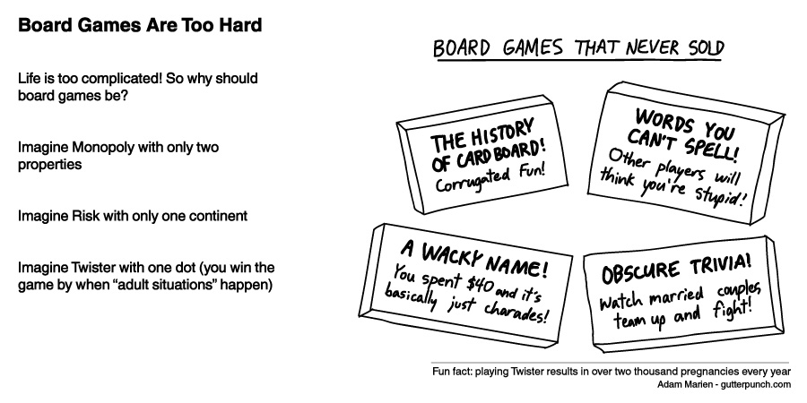 Board Games Are Too Hard