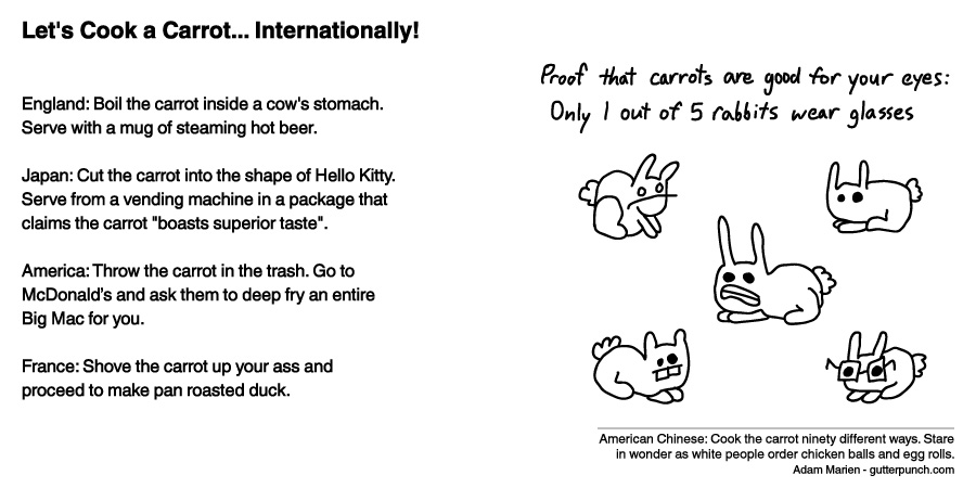 Let's Cook a Carrot… Internationally!
